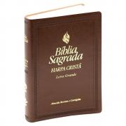 Bíblia Harpa Cristã   Arc   Letra Grande   Couro Sintético   Marrom