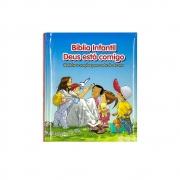 Bíblia Infantil Deus Está Comigo   Infantil   Capa Dura   Azul