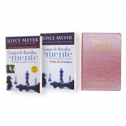 Bíblia Joyce Meyer + Campo Da Batalha Da Mente + Guia De Estudos