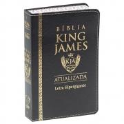 Bíblia King James | BKJA | Letra Hipergigante | Capa Luxo | Preta