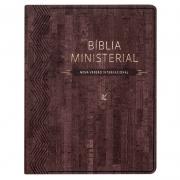 Bíblia Ministerial | NVI | Capa Pu | Marrom Escuro