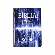 Bíblia Sagrada Água   NAA   Capa Semiflexível   Letra Grande   Azul