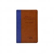 Bíblia Sagrada   Almeida Século 21   Capa Luxo   Marrom E Azul