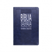 Bíblia Sagrada Com Harpa | ARC | Capa Semiluxo | Azul
