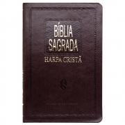 Bíblia Sagrada Com Harpa | ARC | Capa Semiluxo | Marrom