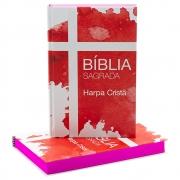 Bíblia Sagrada | Arc | Harpa Cristã | Cruz | Capa Dura Ilustrada