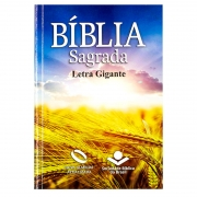 Bíblia Sagrada - Capa Trigo | NAA | Capa Brochura | Letra Gigante | Ilustrada