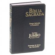 Bíblia Sagrada com Harpa e Corinhos | Arc | Letra Jumbo | Capa Luxo | Preta