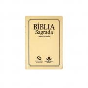 Bíblia Sagrada Com Índice | NAA | Capa Couro Sintético | Letra Grande | Marfim