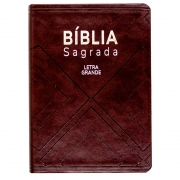 Bíblia Sagrada   Com Índice   NAA   Luxo   Letra Grande   Capa Couro Sintético Marrom