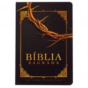 Bíblia Sagrada Coroa De Espinhos | NVT | Capa Semiflexível | Preta