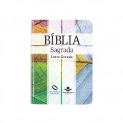 Bíblia Sagrada Cruz | Naa | Capa Semiflexível | Letra Grande | Verde Água