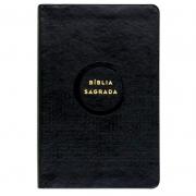 Bíblia Sagrada  Econômica   Nvi   Slim / Ultrafina   Capa Pu Preta