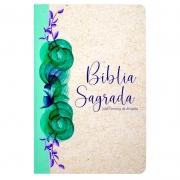 Bíblia Sagrada Especial Reciclato Floral | ARC | Capa Dura | Letra Gigante | Ilustrada