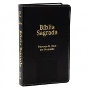 Bíblia Sagrada | Harpa Avivada e Corinhos | Arc | Estrela | Letra Ultragigante | Capa Pu | Preta