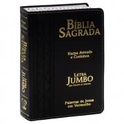Bíblia Sagrada | Harpa Avivada e Corinhos | Arc | Letra Jumbo | Capa Pu Preta