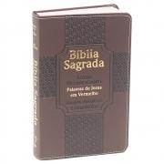 Bíblia Sagrada Harpa E Corinhos | ARC | Letra Ultragigante | Capa Luxo | Marrom