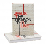 Bíblia Sagrada Jesus The Reason That Live    Arc   Capa Dura   Bege