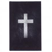 Bíblia Sagrada Leitura Perfeita Cruz Branca | ACF | Capa Soft Touch | Preta
