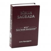 Bíblia Sagrada Luxo | NVI | Letra Hipergigante | Capa Coverbook | Bordô
