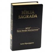 Bíblia Sagrada Luxo | NVI | Letra Hipergigante | Capa Coverbook | Preta