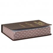 Bíblia Sagrada Luxo | NVI | Letra Hipergigante | Capa Pu | Marrom