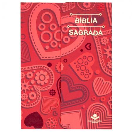 Bíblia Sagrada Coração | NAA | Capa Semiflexível | Vermelha