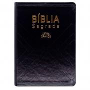 Bíblia Sagrada | Naa | Couro Sintético | Preta