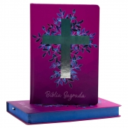 Bíblia Sagrada | NAA | Cruz | Capa Dura | Vinho