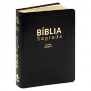 Bíblia Sagrada | Naa | Letra Gigante | Capa Couro Sintético | Preta