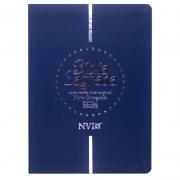 Bíblia Sagrada Nova Ortografia | NVI | Capa Semiflexível | Letra Extragigante | Azul