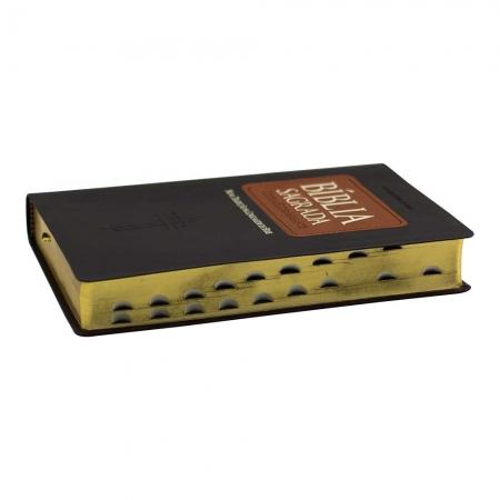 Bíblia Sagrada | Ntlh | com Índice | Letra Extragigante | Capa Couro Sintético | Marrom