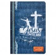 Bíblia Sagrada | NVI | Jeans | Capa Soft Touch Azul