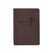 Bíblia Sagrada | NVI | Letra Extragigante | Capa Pu Marrom