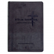 Bíblia Sagrada | NVI | Letra Extragigante | Capa Pu Preta