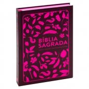 Bíblia Sagrada | Nvt | Capa Dura | Marrom e Pink