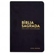 Bíblia Sagrada | NVT | Luxo | Letra Grande | Capa Couro Sintético Preta