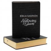 Bíblia Sagrada Para Anotações E Esboços | NVT | Capa Soft Touch | Preta