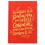 Bíblia Sagrada Salmo 119.11 | NVT | Capa Dura | Vermelho