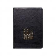 Bíblia Sagrada Slim | NAA | Letra Grande | Couro Sintético | Preta