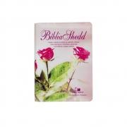 Bíblia Shedd Modelo Feminino   ARA   Capa Convertex   Rosa Claro