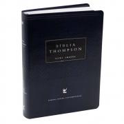 Bíblia Thompson Luxo | Aec | Letra Grande | Capa Pu | Azul e Preta