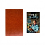 Kit: Bíblia Vida Diária Joyce Meyer + Devocional Billy Graham