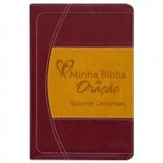 Minha Bíblia de Oração Stormie Omartian | NVI | Capa Luxo | Vinho E Laranja