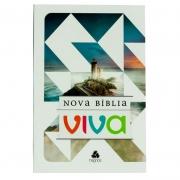 Nova Bíblia Viva | Farol | Capa Brochura | Branca e Azul | Editora Hagnos