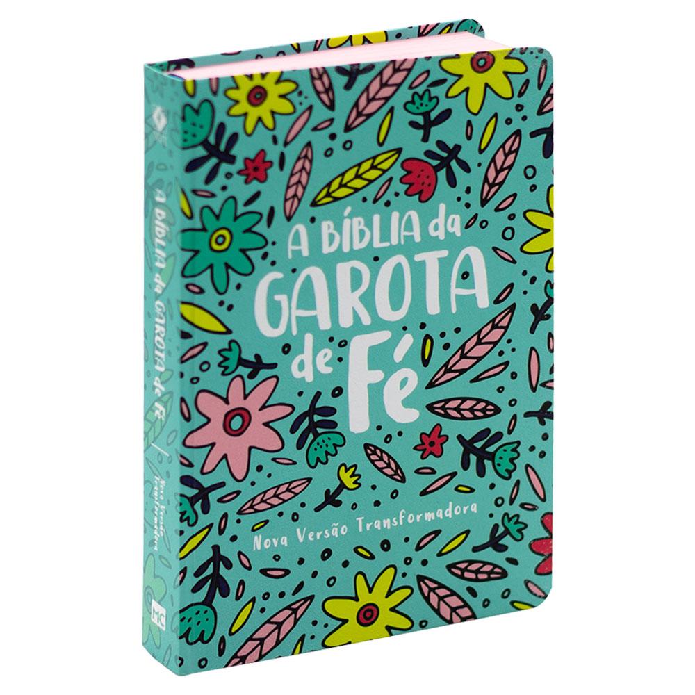 A Bíblia da Garota de Fé   Nvt   Capa Soft Touch   Jardim