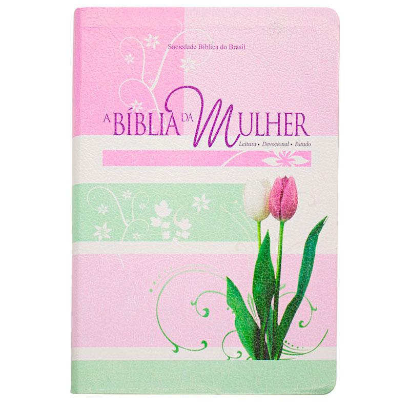 A Bíblia Da Mulher | ARA | Capa Bonded | Rosa Claro