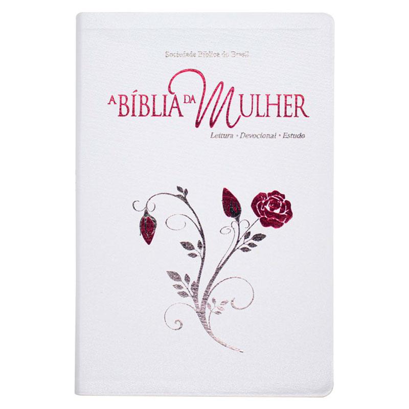 A Bíblia Da Mulher | ARA | Capa Couro Bonded | Branca
