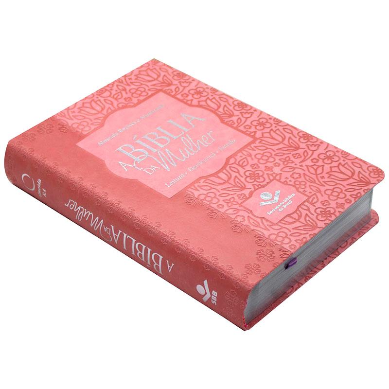 A Bíblia Da Mulher | ARA | Capa Pu | Letra Normal | Rosa Claro