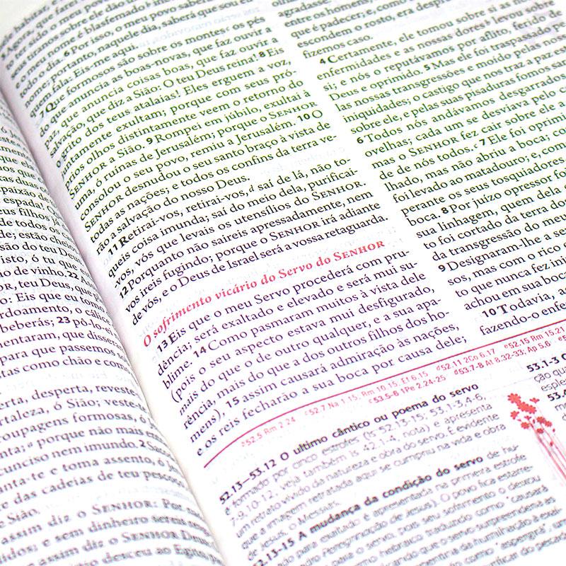 A Bíblia Da Mulher - Beiras Floridas   ARA   Capa Couro Sintético   Goiaba